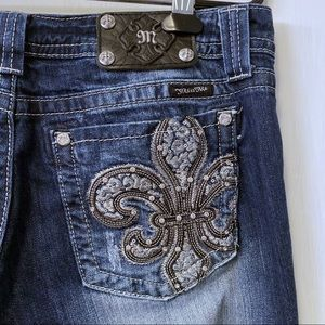 Miss Me Bootcut Fleur Pocket Rhinestone Jeans